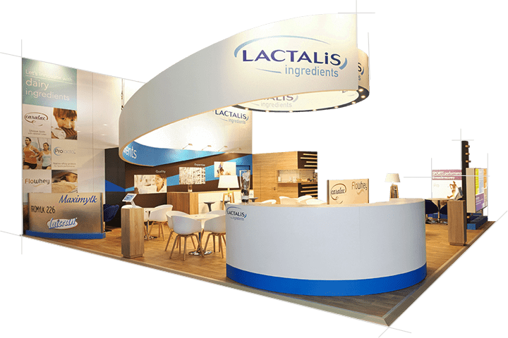 STAND MODULABLE LACTALIS audace-expo