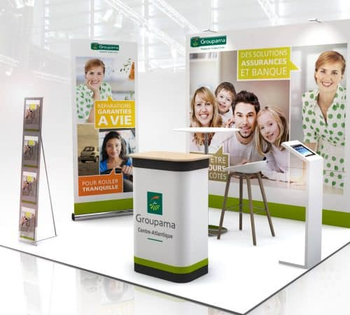 STAND PLIABLE GROUPAMA audace-expo