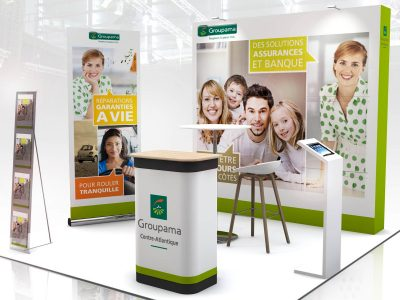 STAND PLIABLES GROUPAMA audace-expo